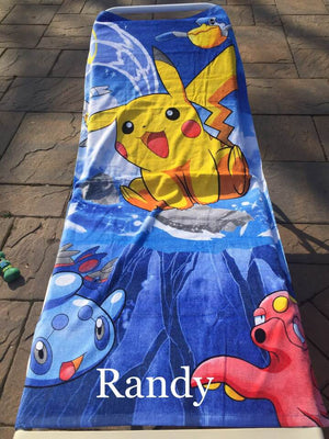 Pokémon Beach Towel Pikachu Beach Towel - Pokemon Personalized