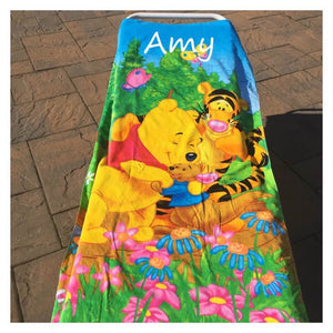 Winnie the Pooh Bear Beach towel - Personalized Over Sized