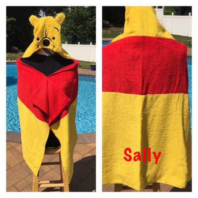 Winnie The Pooh Hooded Bath Towel Wrap – Personalized