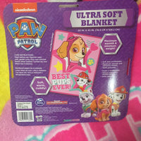 "Paw Patrol Toddler Skye Blanket ""Best Pups Ever"" - Personalized"