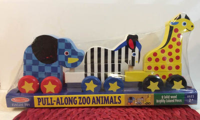 Melissa and Doug Pull Along Zoo Animals