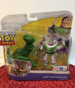 Disney Toy Story Double Pack Buzz Lightyear and Rex 4 inch Posable Figures