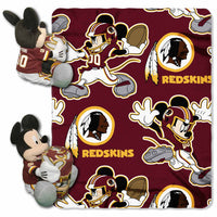 Disney Mickey Mouse NFL Washington Redskins Fleece Throw Blanket & Hugger - Personalized