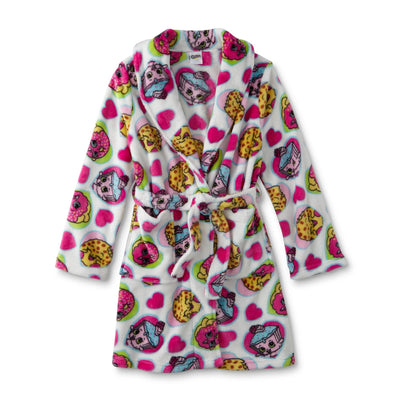 Shopkins Girl's Fleece Bathrobe - Personalized Size: 10