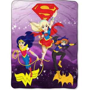 DC Super Hero Shero Girls 'Soaring Thru the Sky' Plush Throw - Personalized