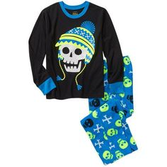 Boys Winter Pajama Set Skull & Cross bones