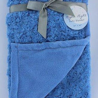 Night Night Baby Sky Blue Blanket - Personalized with Name and Applique