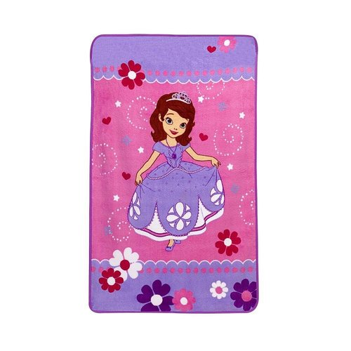 Sofia The First Toddler Plush Fleece Blanket Personalized Just40kidos Beauteous Sofia The First Throw Blanket