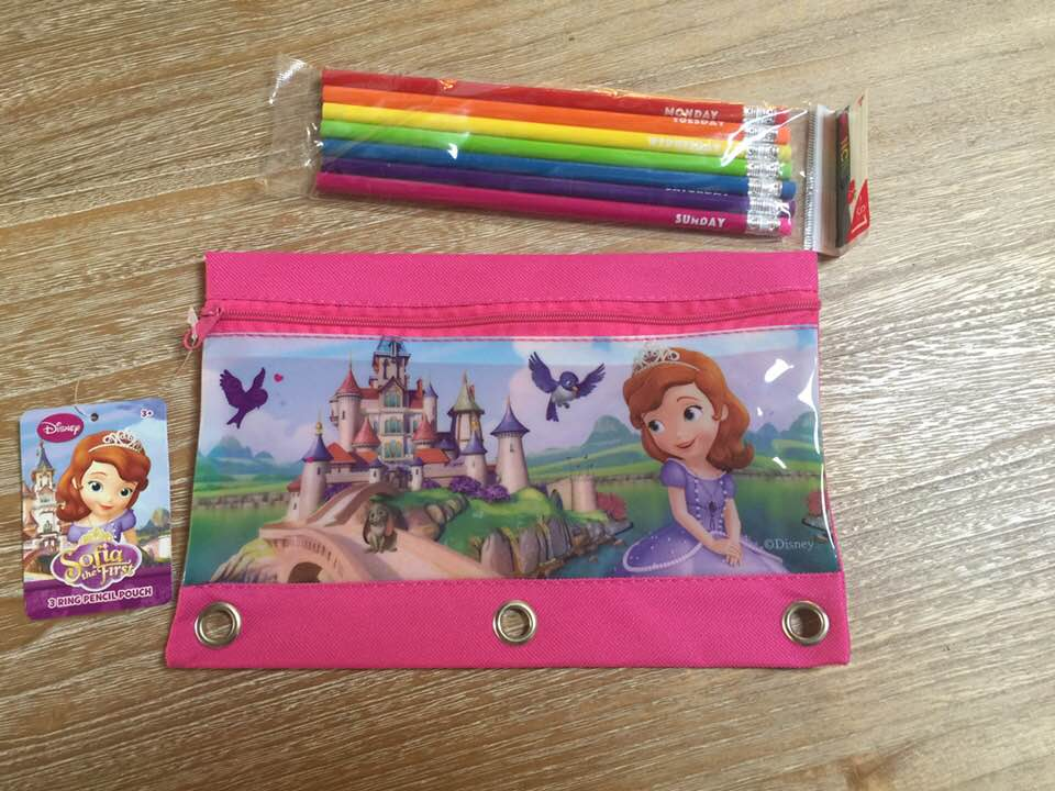 Sofia the First Princess 3 Ring Pencil Case Pouch - Monogrammed