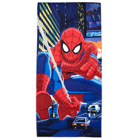 Spider-Man Night City Beach Towel - Personalized Spiderman Beach Towel
