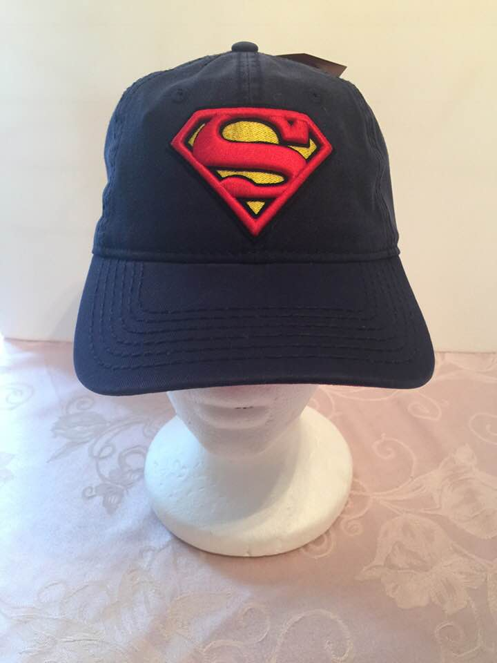 DC Comics Superman 3D S Logo Snapback Baseball Cap - Personalized