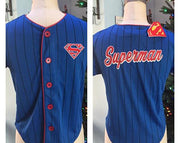 SUPERMAN Boy's Baseball Jersey Shirt Top - Personalized