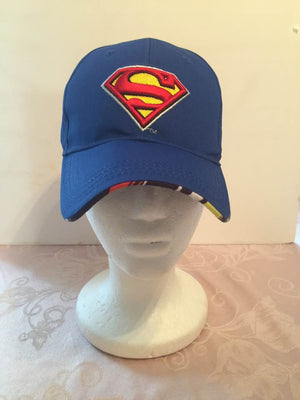SUPERMAN Blue Boys Baseball Cap - Personalized