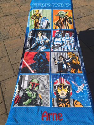 Star Wars Classic Character Grid Beach Towel - Personalized