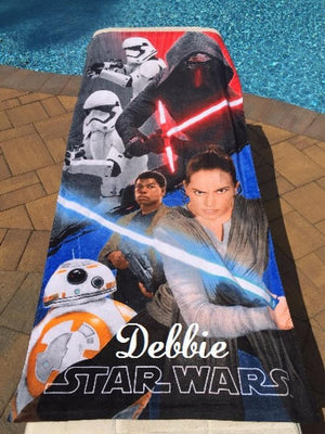 Star Wars Rogue One Beach Towel Kylo Ren - Personalized Beach Towel