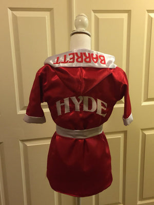 CUSTOM Made Satin Toddler BOXING Robe - Personalized
