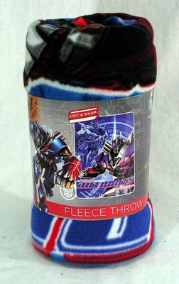 Transformers Fleece Throw- Optimus Prime Plush Throw - Personalized