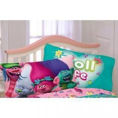 Trolls Reversible Microfiber Pillowcase - Personalized