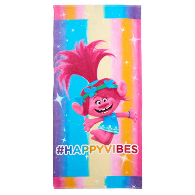 DreamWorks Trolls Poppy Happy Vibes Beach Towel - Personalized