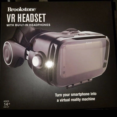 Brookstone VR HEADSET built In Headphones NIB