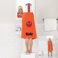 Star Wars Wing Pilot Hooded Bath Towel Wrap – Personalized