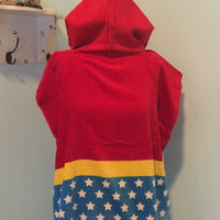 WONDER WOMAN Hooded Towel Poncho Bath Beach or Pool Towel Poncho - Personalized