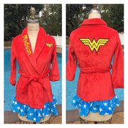DC Comics Wonder Woman Bath Robe - Personalized Size 6/6X Last One