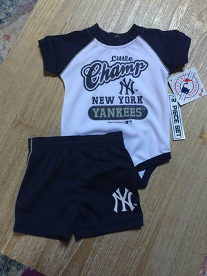 New York YANKEES Baby 2-piece Creeper short set