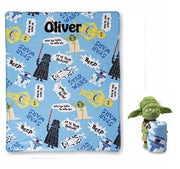 "Star Wars ""Yoda Story"" Hugger and Fleece Throw Set - Personalized"