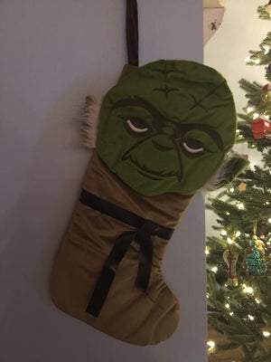 Star Wars YODA Appliqued Christmas Stocking 21 inch can be Personalized T9