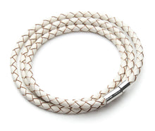 Exclusive Lizard Braided Leather & Silver Bracelet