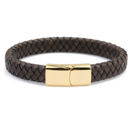 Sao Paulo Brown Braided Leather Bracelet