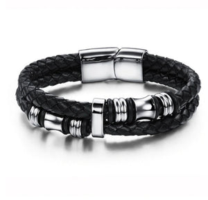 Storm Black Leather Bracelet