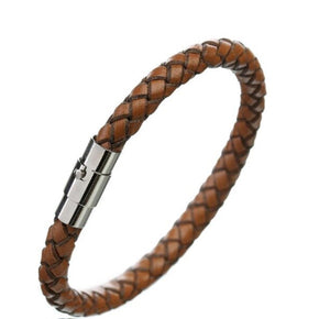 Rock Rio Brown Leather Bracelet
