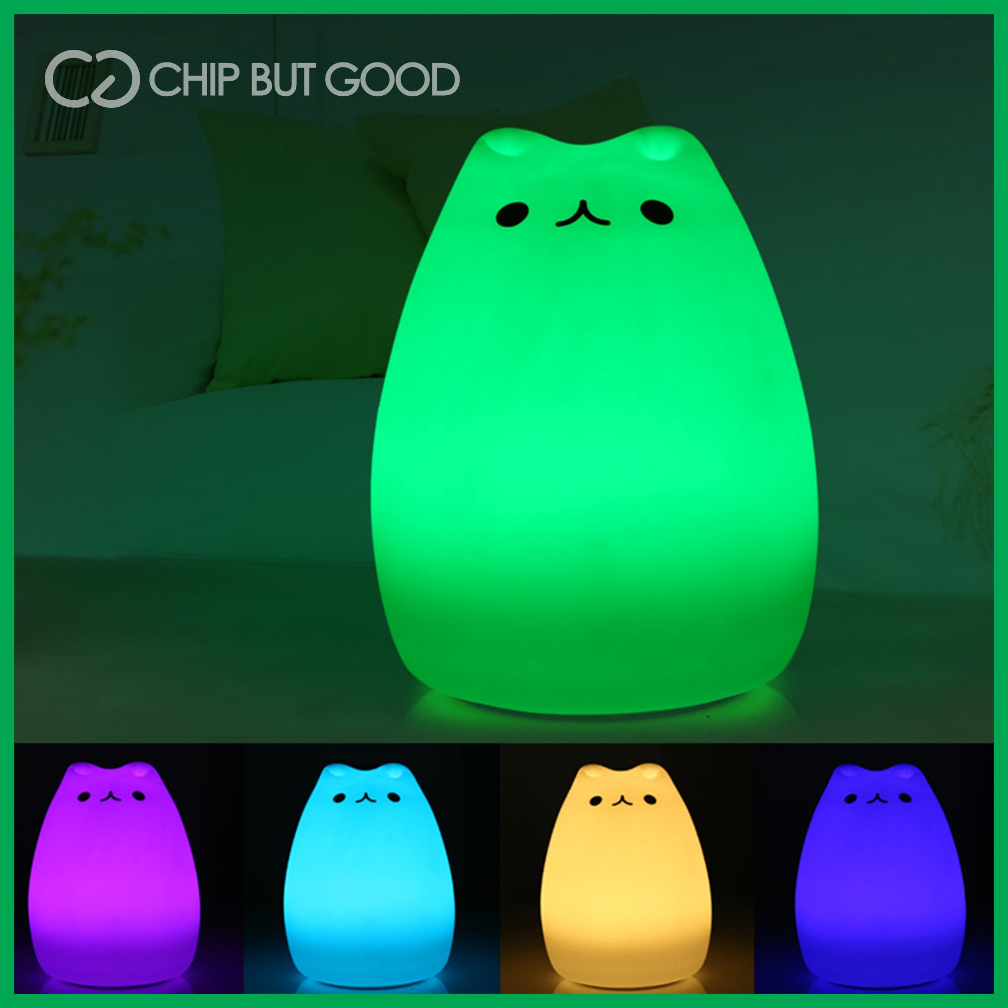 CUTE COLOR CHANGING CAT TOUCH LAMP