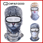 3D WINTER CAT MASK
