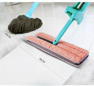 Double Sided Automatic Squeezed Hands Free Microfiber Floor Mop