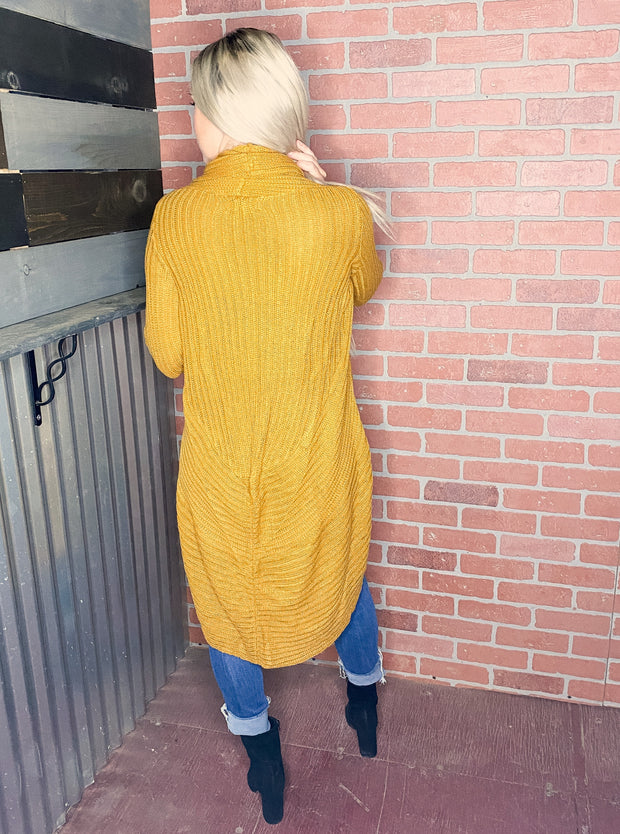 Ribbed Knit Duster