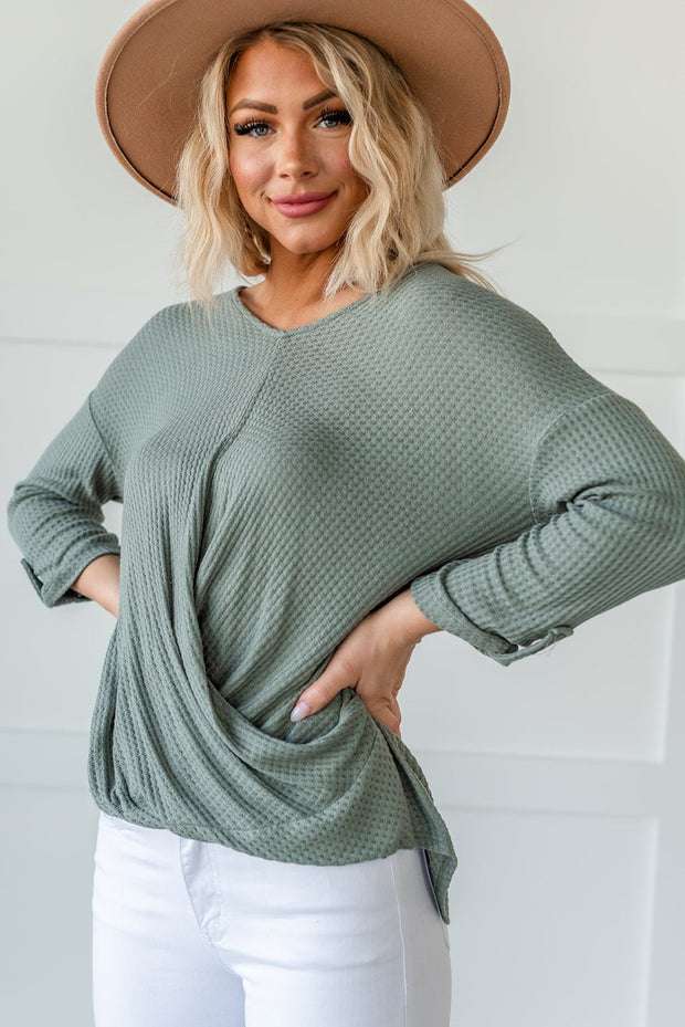 Call Me Maybe Waffle Knit Top