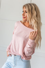 What A Beauty Drop Shoulder Top - Pink