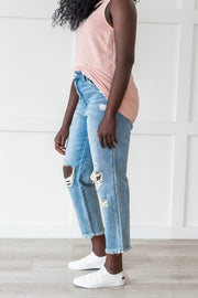 On The Go Distressed Jeans