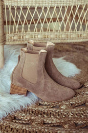Holly Ankle Booties - Taupe