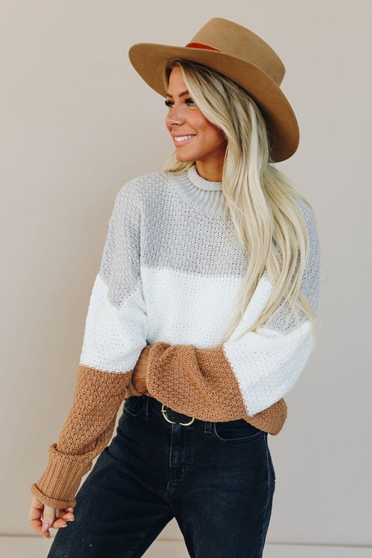 Color Block Oversized Sweater