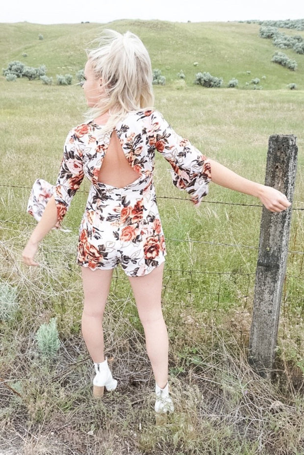 Here Floral Good Time Romper