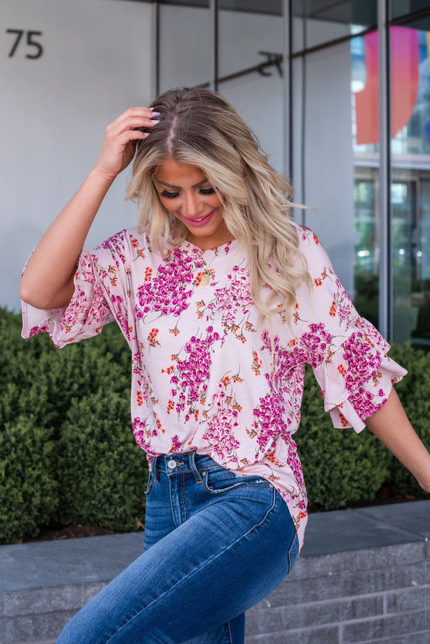 It's All On You Floral Top