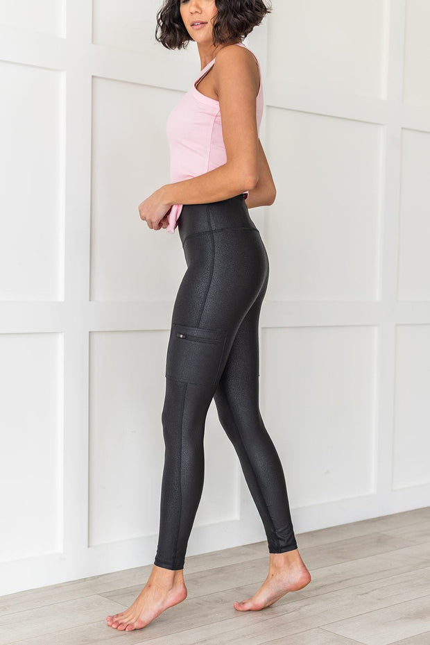 Let's Get A Move Active Foil Leggings