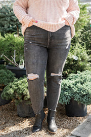 Looking Fine Distressed Jeans