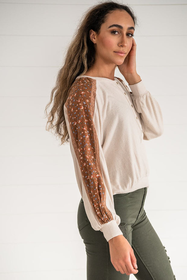 Feeling Fresh Contrast Henley Top