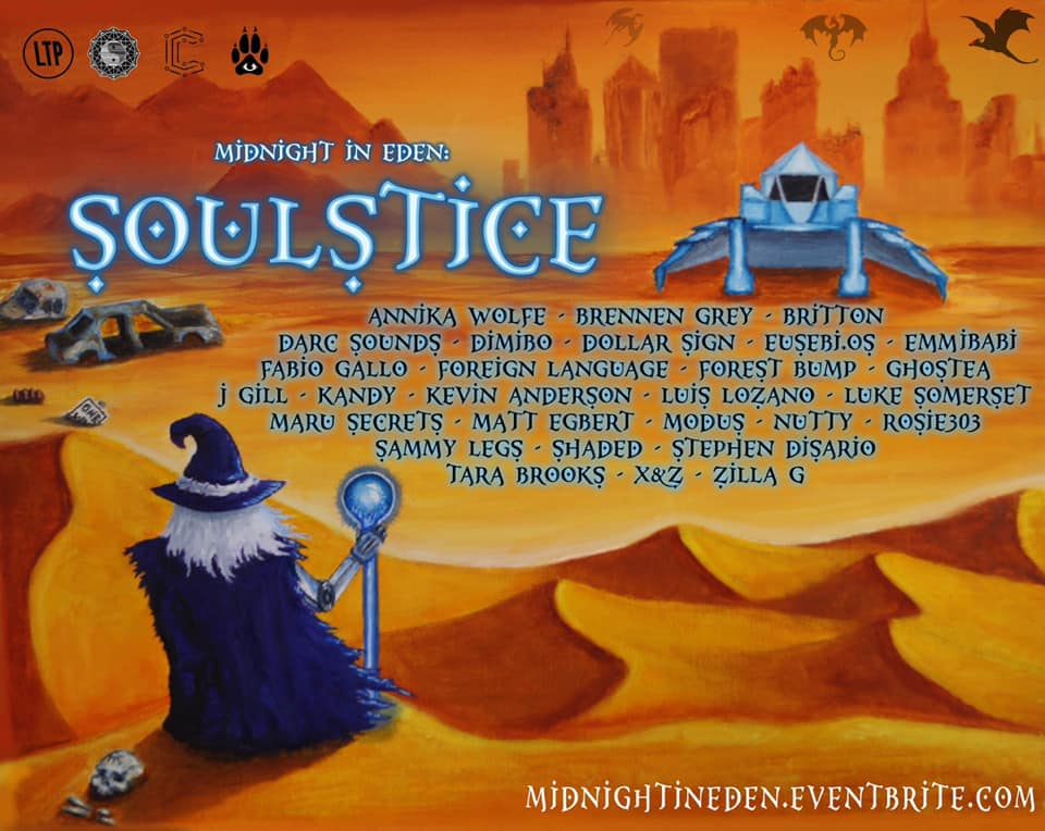 We are vending at... Midnight in Eden: SOULSTICE!!