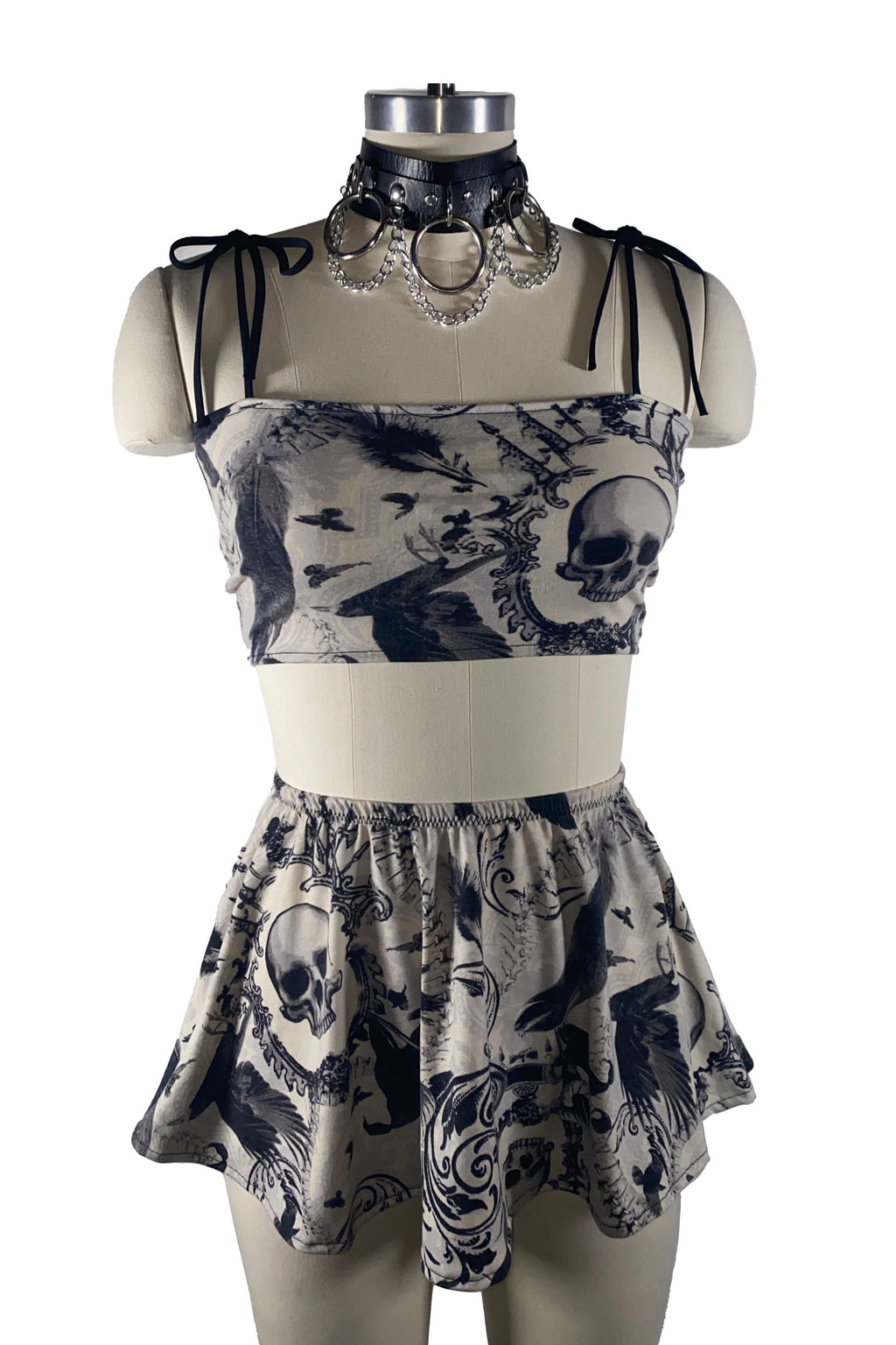 MEDIUM Spooky Punq Skater Skirt